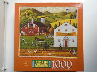 Charles Wysocki's Moving Day In Amish Country 1000 Piece Americana Jigsaw Puzzle