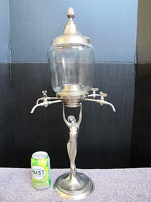 Art Nouveau Lady Statue Coffee Dispenser.