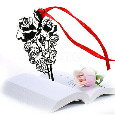 Retro Rose Metal Book Mark Note Memo Bookmark Label Vintage Creative Gift New