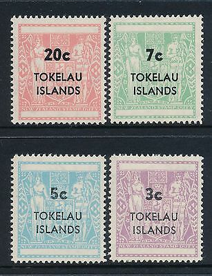 1968 Tokelau Decimal Overprints Set Of 4 Fine Mint Mnh/muh