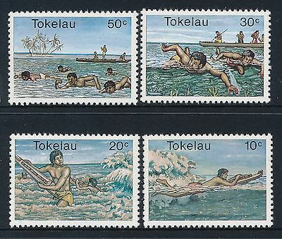 1980 Tokelau Water Sports Set Of 4 Fine Mint Mnh/muh