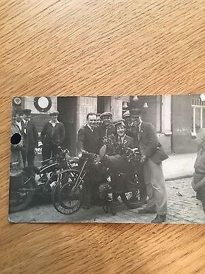 Having fun postcard 1930s Anglo German speedway riders