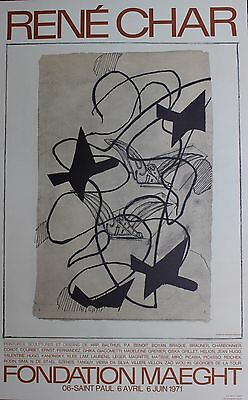 Georges Braque Original Lithograph Rene Char Fondation Maeght 1971