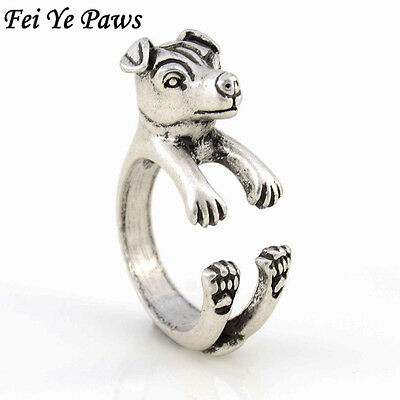 Cute Vintage Jack Russell Ring Anel Boho Chic Rat Dog Rings Women Men Jewelry