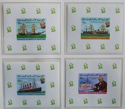 MAURITANIA 1979 UNLISTED ImPerf MNH Sheets, Bateau-Ship-Boat-Africa-Barco