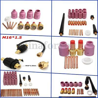 Multi-specification Parts TIG Welding Torch Kit  Gas Lens Nozzle Cups Collets