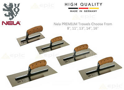 "NELA PREMIUM Plasterers Plastering Finishing Trowel Sizes 8"",11"",13"",14"",16"",18"""