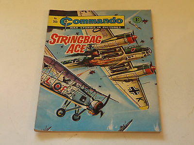 Commando War Comic Number 265,1967 Issue,good For Age,50 Years Old,very Rare.