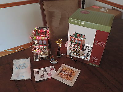 Dept 56 Parkside Holiday Brownstone Christmas In City Series Gift Set 58937