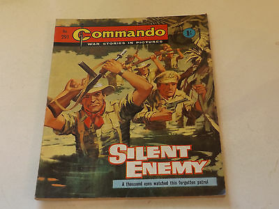 Commando War Comic Number 291,1967 Issue,v Good For Age,50 Years Old,very Rare.