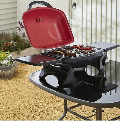 NEW Master Chef Portable 2 Burner Gas BBQ - Black & Red