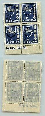 Lithuania, 1937, SC 305, MNH, block of 4. d5719