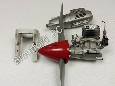 OS Max 46AX 2 Stroke RC Plane Aero Engine With OS power Box muffler SALE £69.95