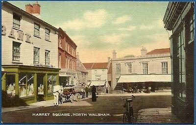 Postcard - Market Square, North Walsham, Norfolk