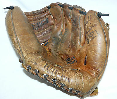 Vintage Wilson Ball Hawk Baseball Glove A2960 USA Collectible Leather
