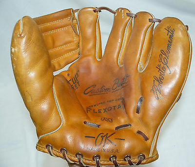 RARE OK Roberto Clemente Model Baseball Glove USA J33 Custom Built Model Nice