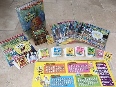 Spongebob Krusty Cards Magazines 1-60 & 95% Of Trading Cards & Box Ex Cond!
