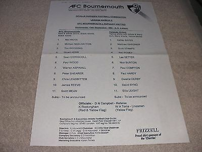 AFC Bournemouth v Torquay United 15/9/93. Neville Ovenden Football Combination.