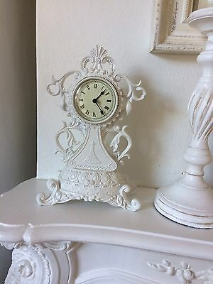 SHABBY CHIC  CLOCK  Of White