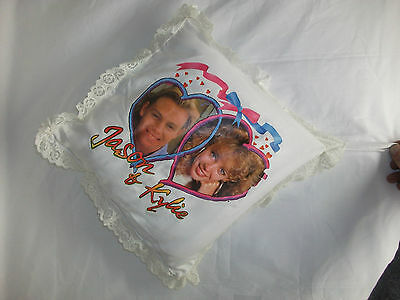 Rare 1980s Collectible Neighbours Jason Donovan & Kylie Minogue Cushion