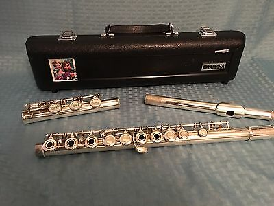 Yamaha 381 Open Hole Silver Plated Body / Sterling Silver Head Joint Flute