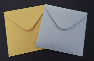 """6"""" x 6"""" Square Pearlised Envelopes (155mm x 155mm) Choice of Colours"""