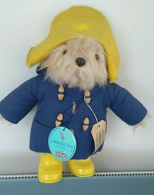 Paddington Bear with labels 1981 Gabielle Designs, Made in England - 40cm tall