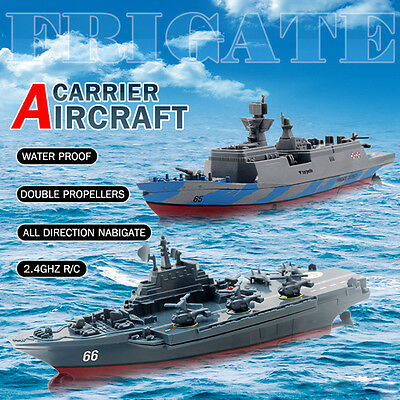 Remote Control Challenger Aircraft Carrier RC Boat Warship Battleship Education