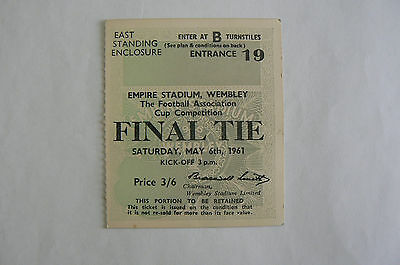1961 Leicester V Tottenham Fa Cup Final Ticket