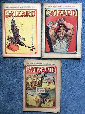 3 Vintage comics THE WIZARD #734, 751, 786 - 1936/37