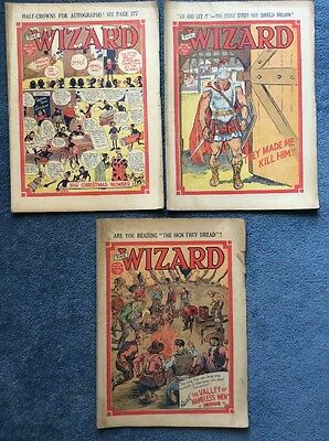 3 Vintage comics THE WIZARD #731, 732, 733 - 1936/37