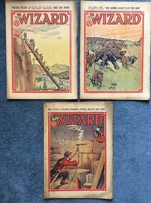 3 Vintage comics THE WIZARD #723, 724, 725 - 1936