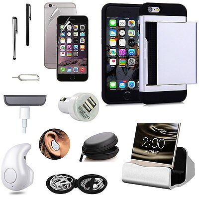 Pocket Case+Charger+Bluetooth Earphones+Fish Eye Accessory For iPhone 7 Plus