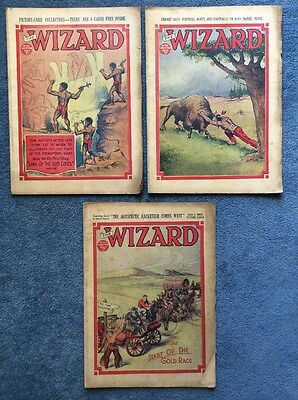 3 Vintage comics THE WIZARD #701, 702, 705 - 1936