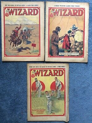3 Vintage comics THE WIZARD #697, 698, 699 - 1936