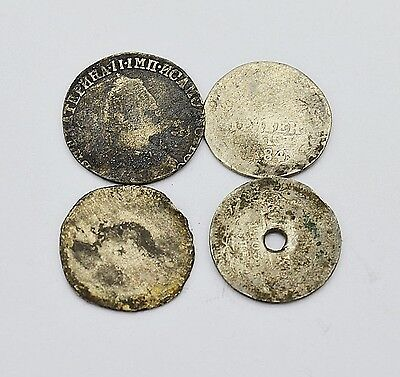 Mixed lot of Russian Imperial Silver coins 17-19 Century