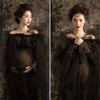 Women's Lace Maternity Dress Maxi Gown Photography Photo Shoot Pregnant Clothes