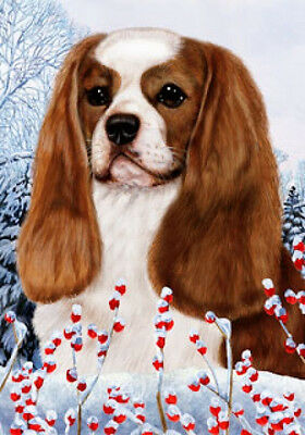 Large Indoor/Outdoor Winter Flag - Blenheim Cavalier King Charles Spaniel 15055