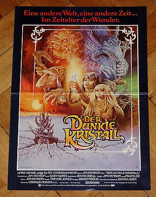 """DIN A3 Kino-Filmposter""""DER DUNKLE KRISTALL""""Animation USA/GB 1982"""