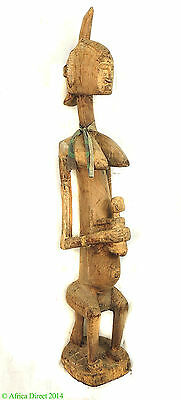Bamana Mother and Child Maternity Mali 43 Inch African Art