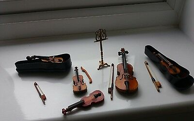 Dolls House Miniatures Job Lot String Instruments