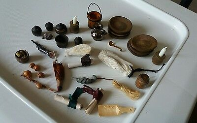Dolls House Miniatures Job Lot Tudor Household Items 1