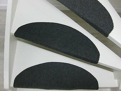 Carpet Stair Mats Pads Treads Non Slip Black 15-Piece Set
