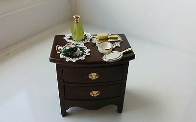 Dolls House Miniatures Bedside Cabinet + Lots Of Lady's Accessories