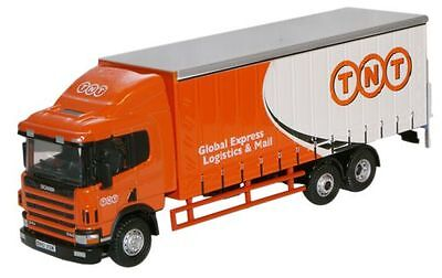 Bnib Oo Gauge Oxford 1:76 76S94001 Scania 94 6 Wheel Curtainside Tnt Rigid Lorry