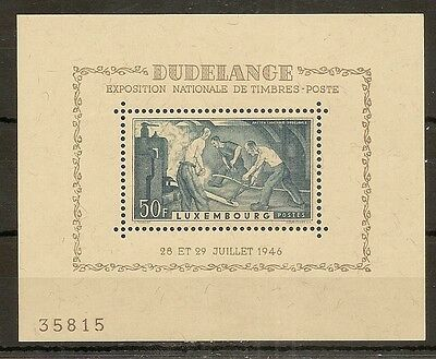 Luxembourg 1946 50fr Dudelange MS487A Mint Cat£25