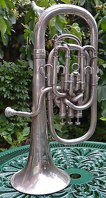IMPERIAL Bb BARITONE HORN- BOOSEY & HAWKES B&H LONDON- MADE & PLATED- #431119