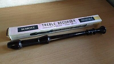 Vintage Schott Schott`s  Treble Recorder baroque fingering & original box