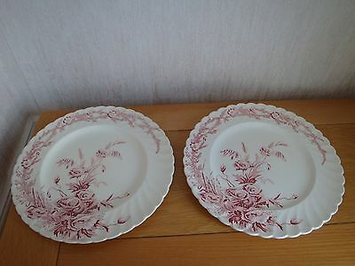 "ART DECO 1930s CLARICE CLIFF HARVEST ROYAL STAFFORDSHIRE 10"" PLATE FLUTED RIM x2"
