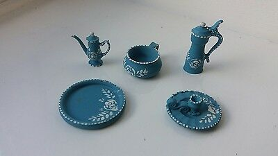 Dolls House Miniatures Job Lot Wedgewood Style Items For Lady's Bedroom